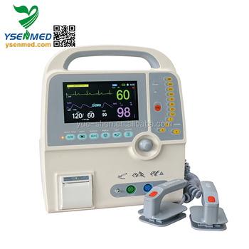 YS-9000C Cheap hot selling portable monophasic defibrillator with battery price