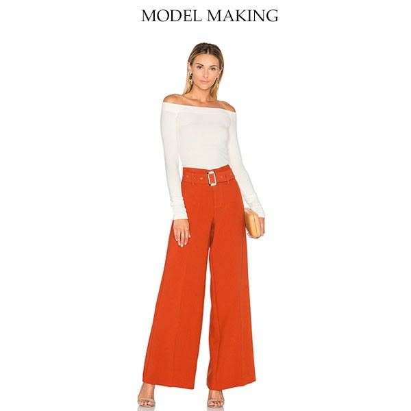 658127cb1bc Latest Design Ladies Semi Formal Red Long Loose Trousers - Buy ...