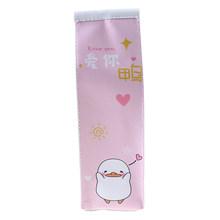 Креативный 1 шт. футляр для карандашей из искусственной кожи, чехол с имитацией молочной коробки, милый пенал, чехол кавайные канцелярские ш...(Китай)