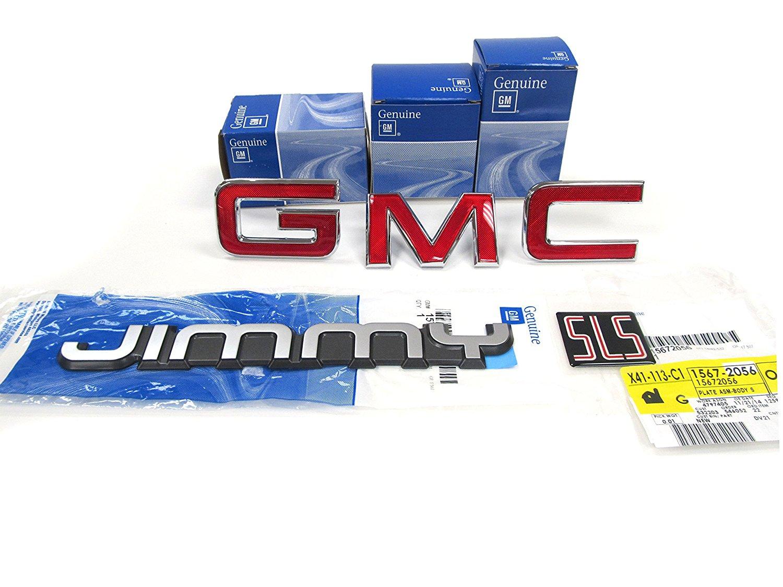 OEM NEW Rear Door Side Body SLS Emblem Set 94-05 GMC Jimmy Sonoma 15672056