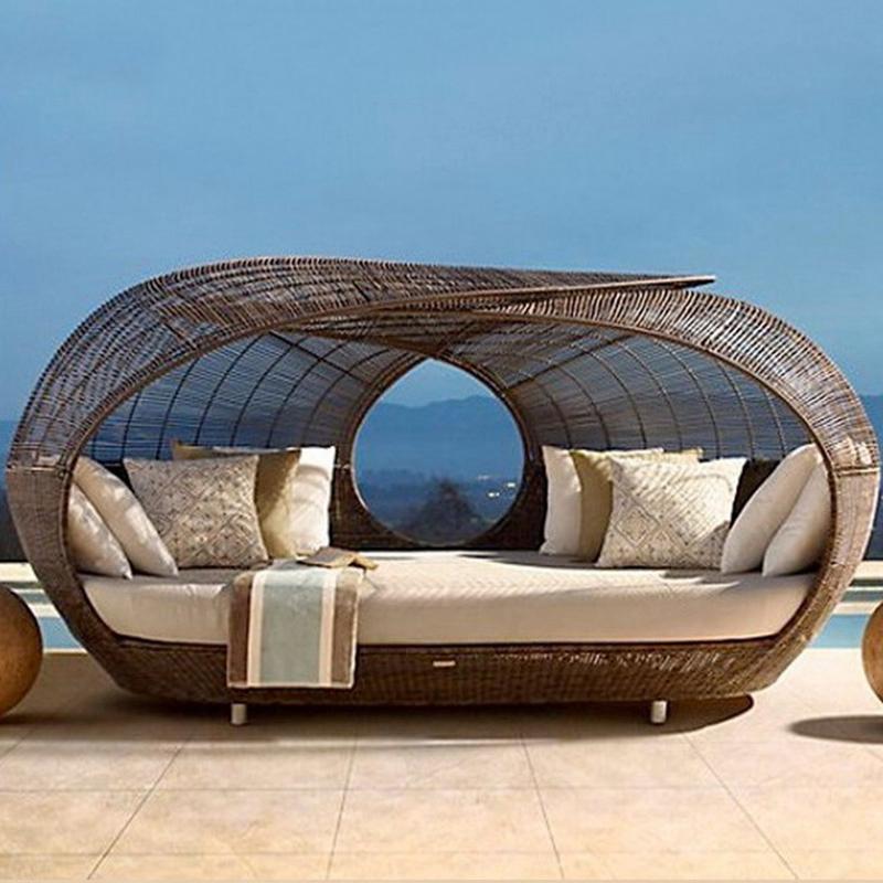 finden sie hohe qualitt rattan runde liege sofa bett hersteller und rattan runde liege sofa bett auf alibabacom - Runde Tagesliege Mit Baldachin