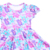 Hot Selling Children Clothings Cute Short Sleeve Kids Twirl Dresses OEM Service Little Bear Printed Toddler Frocks Design