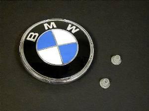 BMW e31 e53 e65 rear hatch trunk Emblem KIT +clips OEM deck lid roundel badge