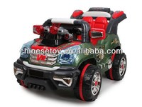 R/C & Foot-step Ride On Car with Music and Light Electric Kids Riding Car for Kids
