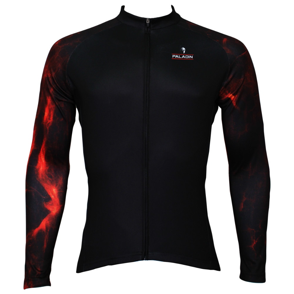 Free shipping 2015 Spring and autumn season long sleeved men black riding clothes red lava armSQ-384