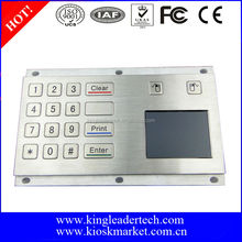 16 flat keys stainless steel keypad with touchpad and USB connection