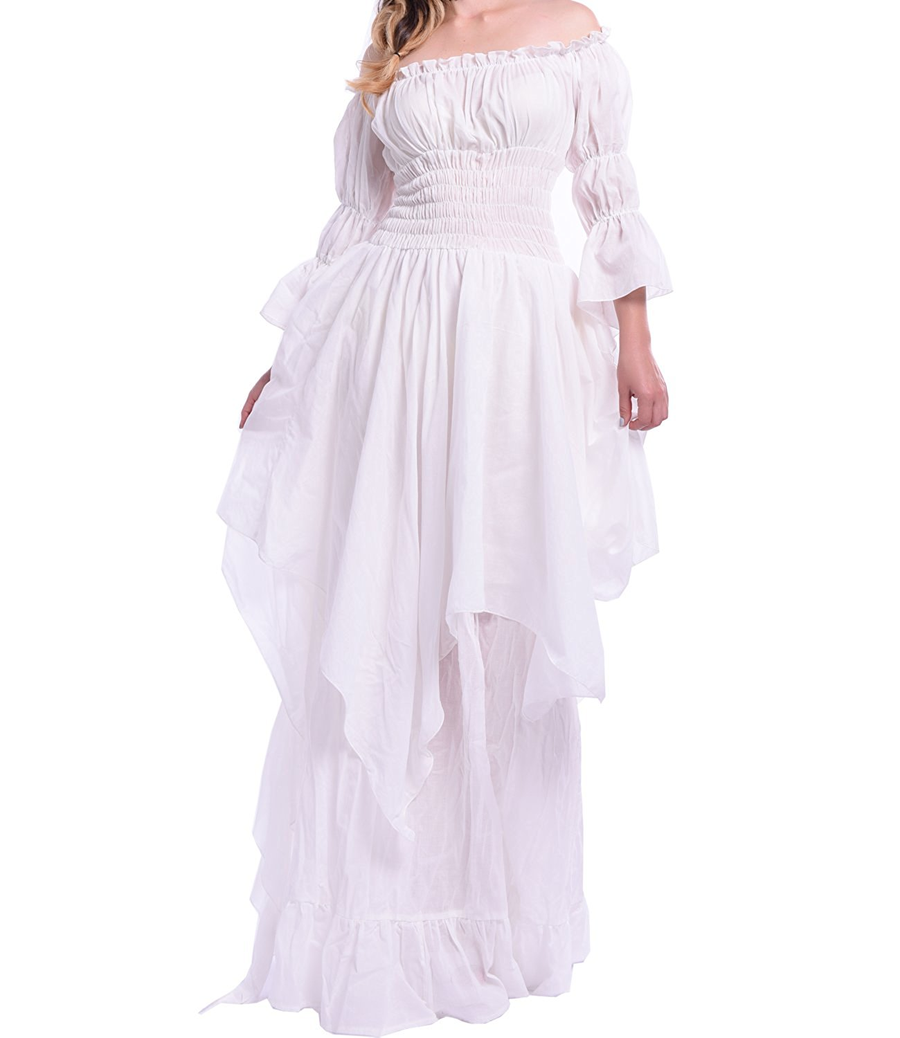 Get Quotations · Womens Off the Shoulder Vintage Nightgown Victorian  Sleepwear 0f128557b