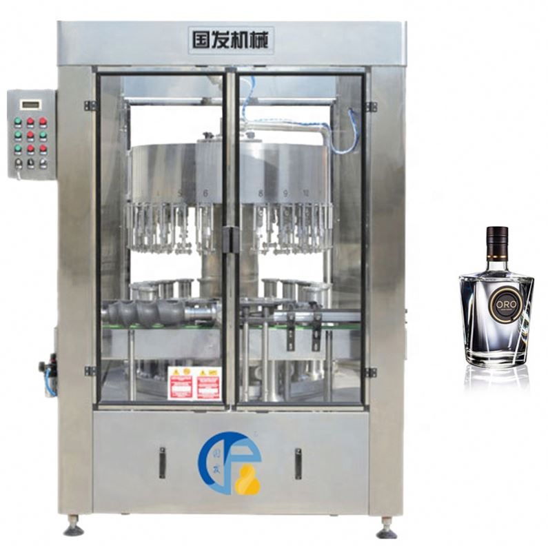Automatic Glass Wine Bottle Washer And Filler/Wine Filling And Capping Machine