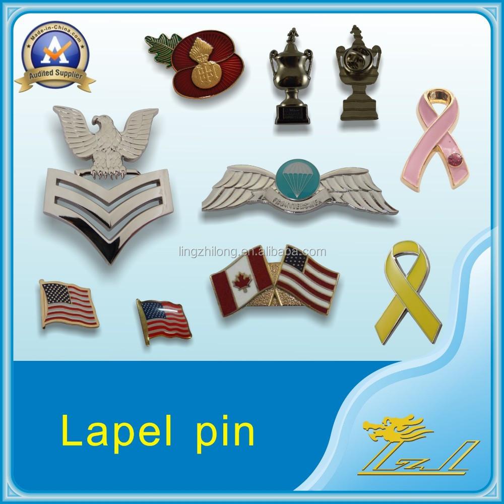 2016 Fashion Delicate Metal Pin Manufacturers China Flower Lapel ...