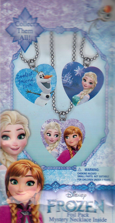 Disney Frozen Mystery Necklace Blind Foil Pack