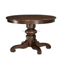 F40392A-1 European antique designs round dining table teak wood dining table