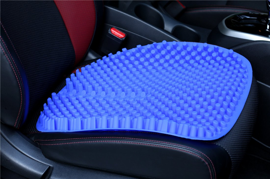 Hylaea Gel Car Seat Cushion Pad for Truck Office Chair Auto Driver Non-slip Black 18 by 18 inch