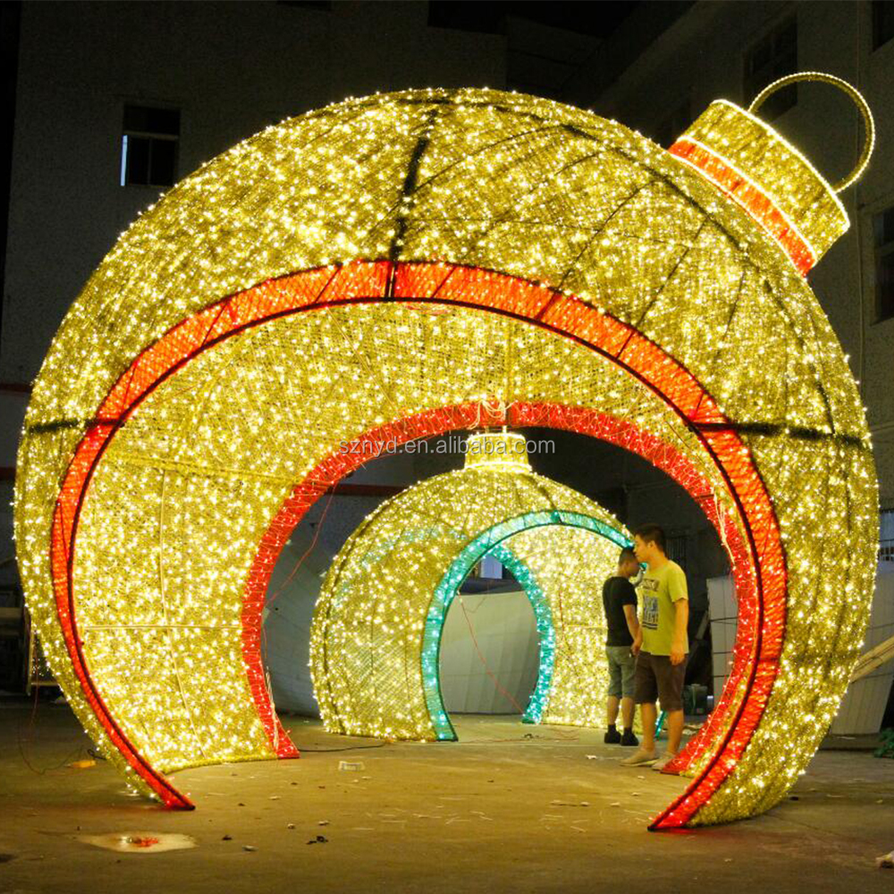 2017 Outdoor LED Ball Arch Christmas Decoration