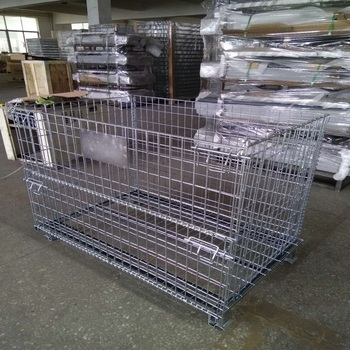 Warehouse Wire Mesh Storage Gitterbox Pallet Rack Buy Round Wire Storage Rack Gitterbox Steel Storage Cages Product On Alibaba Com