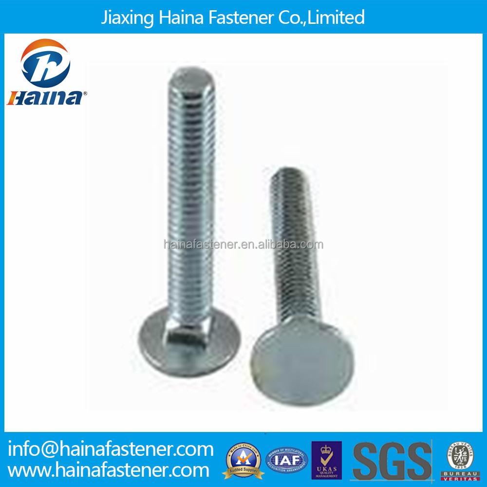 M4 Zinc Plated Flat Head Square Neck Carriage Bolts Made In China