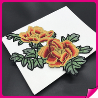 2017 newest design embroidery fashion applique embroidery flower patch