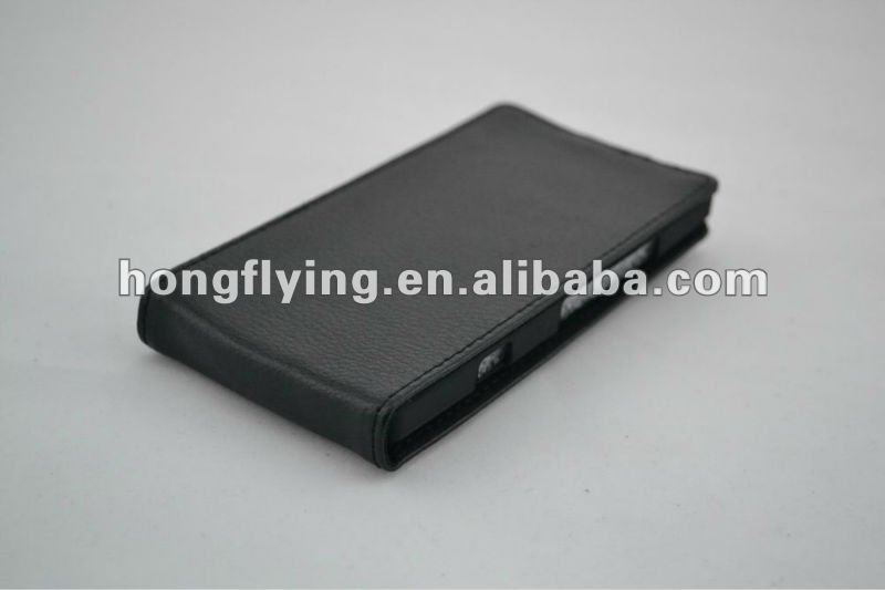 Classic, latest two-story litchi grain leather case for Sony xperia S