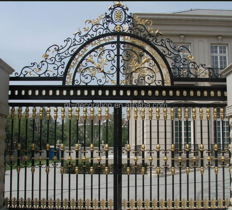 Luxury Antique Cast Iron Home Gate Arch Design Ntirg-077s