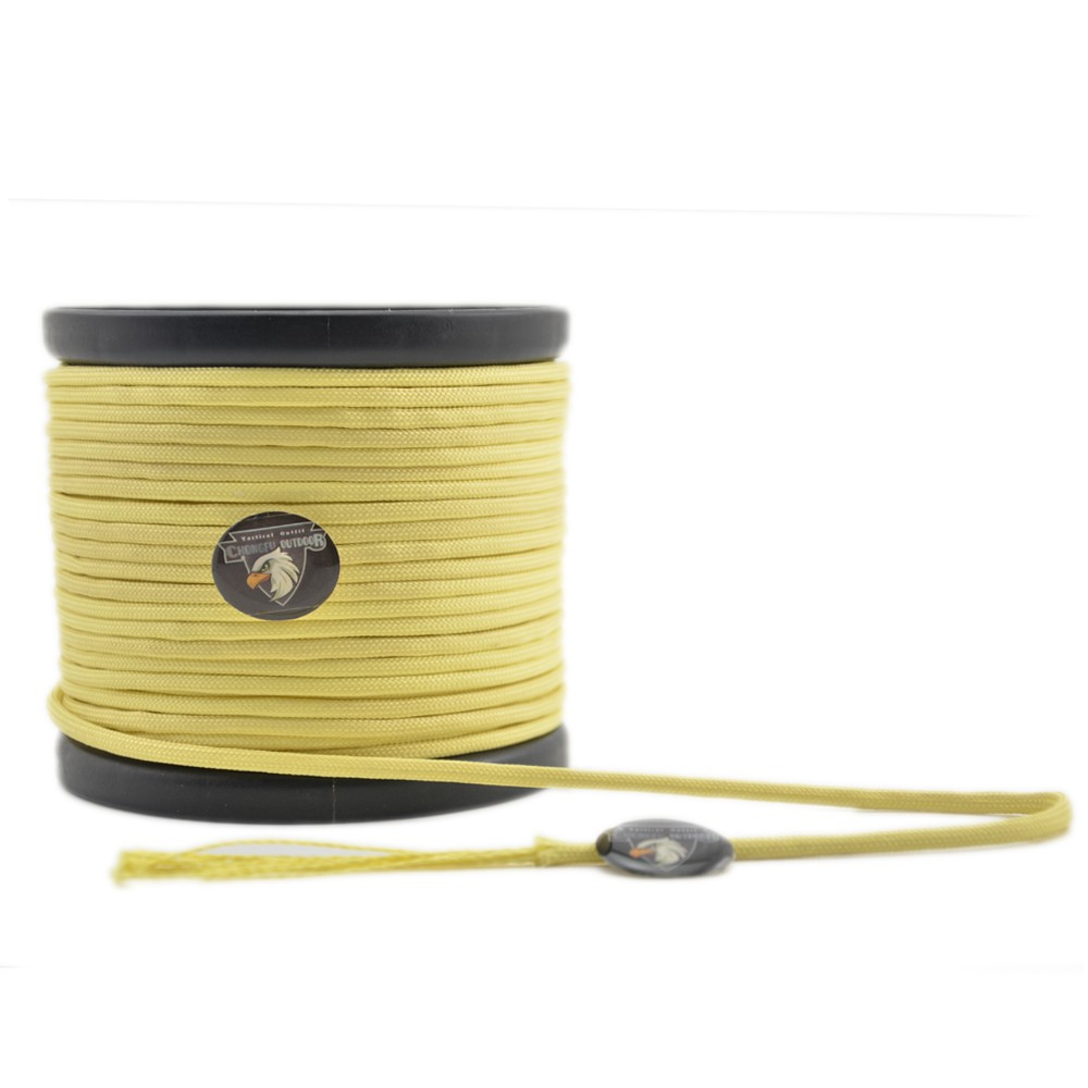 Tactical Kevlar Survival Cord Rope 1050LB Paracord Yellowish Multiple Lengths Paracord