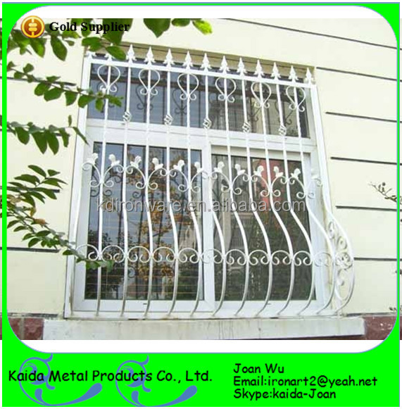 Simple Wrought Iron/steel Window Grills Design With Paint Spraying ...