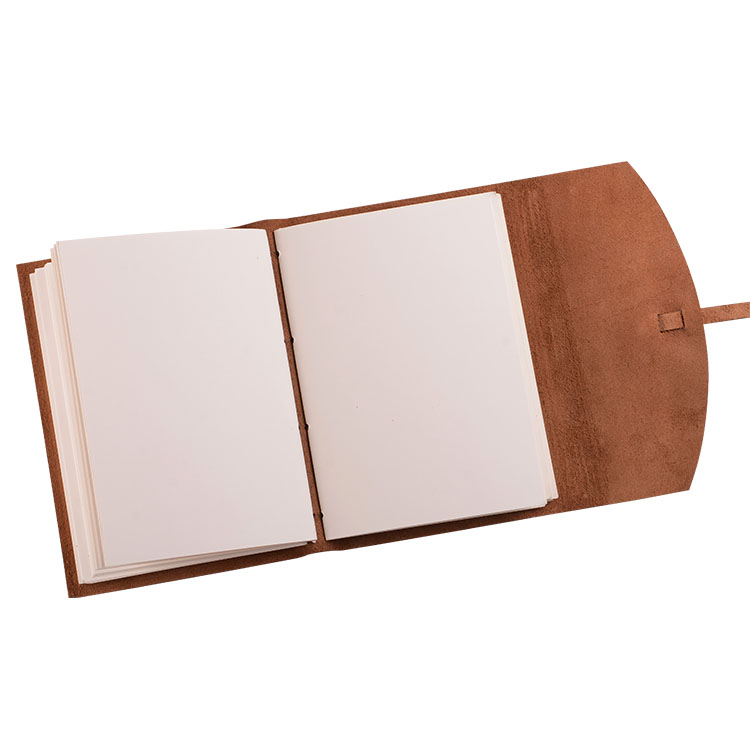 Easy Carry Custom Three Folds Vintage Real Leather Notebook