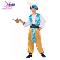 Kids prince cosplay carnival party costumes aladdin cosplay arabian prince fancy dress costume for boys