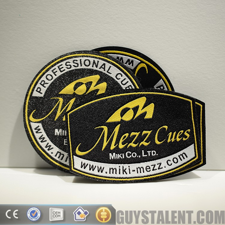 Custom Private Brand Name Logo Woven Badge For Garment