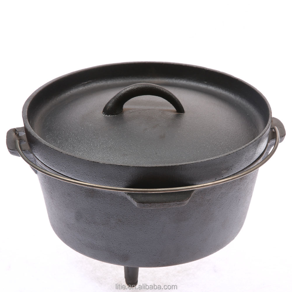 Wholesale outdoor camping cast iron dutch oven set
