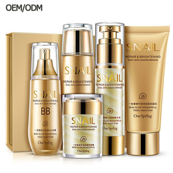 OEM ODM bulk nourishing snail beauty facial products best skin care kit for women