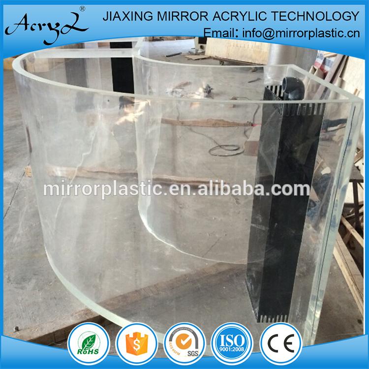 China Wholesale Custom Curved Acrylic Aquarium