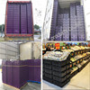 Plastic Material and No Foldable plastic crates for fruits and vegetables