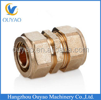 2014 new products, custom made brass fitting for PEX/AL/PEX composite pipe brass union,