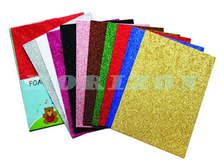 2mm Thick Colorful Craft Glitter Eva Soft Foam Sheet Thin