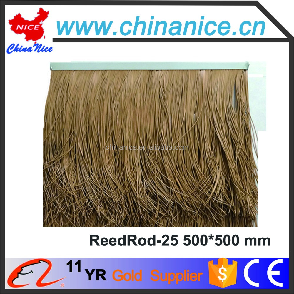 PVC PE PP ABS fireproof artificial thatch plastic synthetic roofing thatch