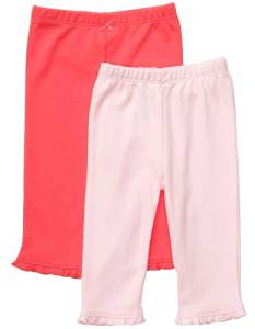 Carter's Baby Girls Essential 2-pack Pull-on Pants (NB-24M) (Newborn, Pink) Color: Pink Size: Newborn NewBorn, Kid, Child, Childern, Infant, Baby