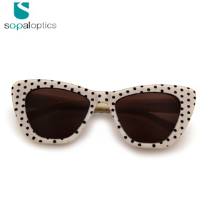 2018 Big Size retro cat eye Acetate sunglasses for women