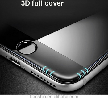 High quality 3D full cover curved edge tempered glass screen protector for iphone 7