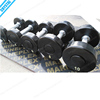 SJ-223-3 Pop gym fitness equipment round PU dumbbell weight set price