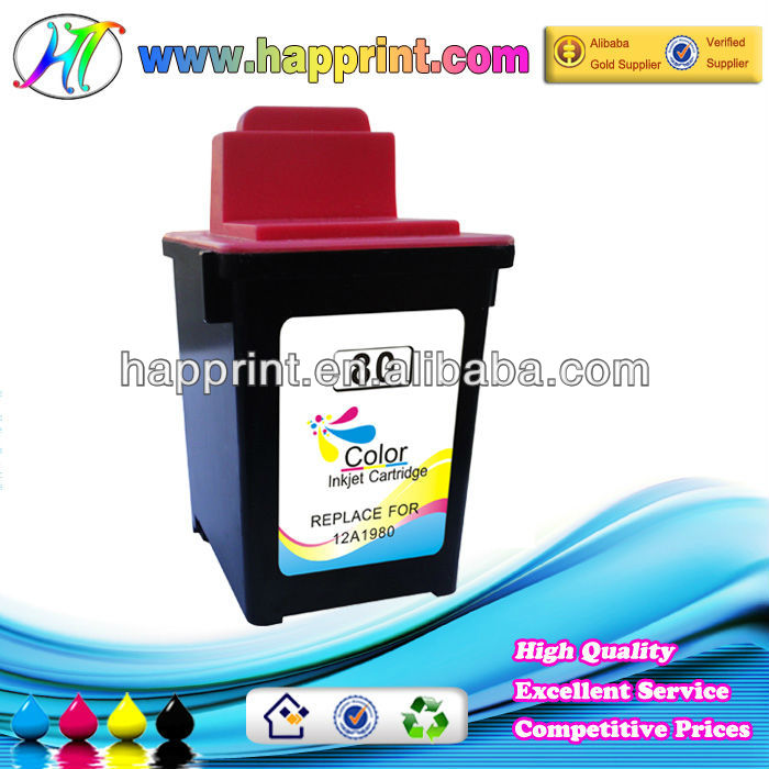 Hot Sale replacable ink cartridges for Lexmark 80 12A1980 wholesale for use with printer model ColorJetprinterZ11/Z31/3200/5000