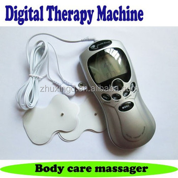 Digital tense therapy massager electrodes machine massage