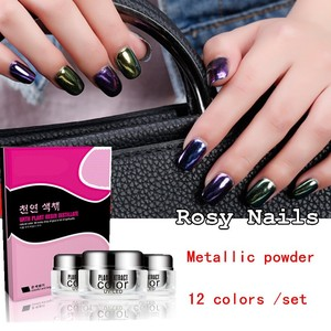 Rosynails hot selling mirror like chrome effect magic mirror powder for nails