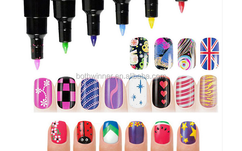 Double ends nail art drawing penh0t095 the best choose nail art double ends nail art drawing pen h0t095 the best choose nail art pen french prinsesfo Images