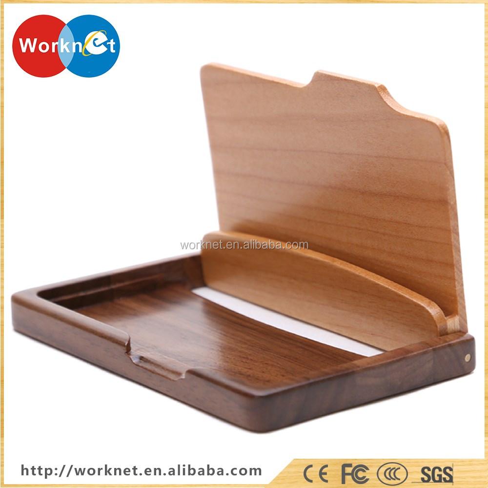 Alibaba Wholesale Walnut Wood+cherry Wood Business Card Holder ...