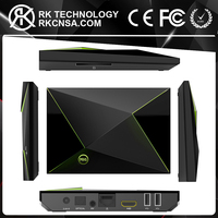 RK Nvidia Shield Case Design OEM Accepted M9S Z8 Amlogic S905X 2GB 16GB Android Smart TV Box