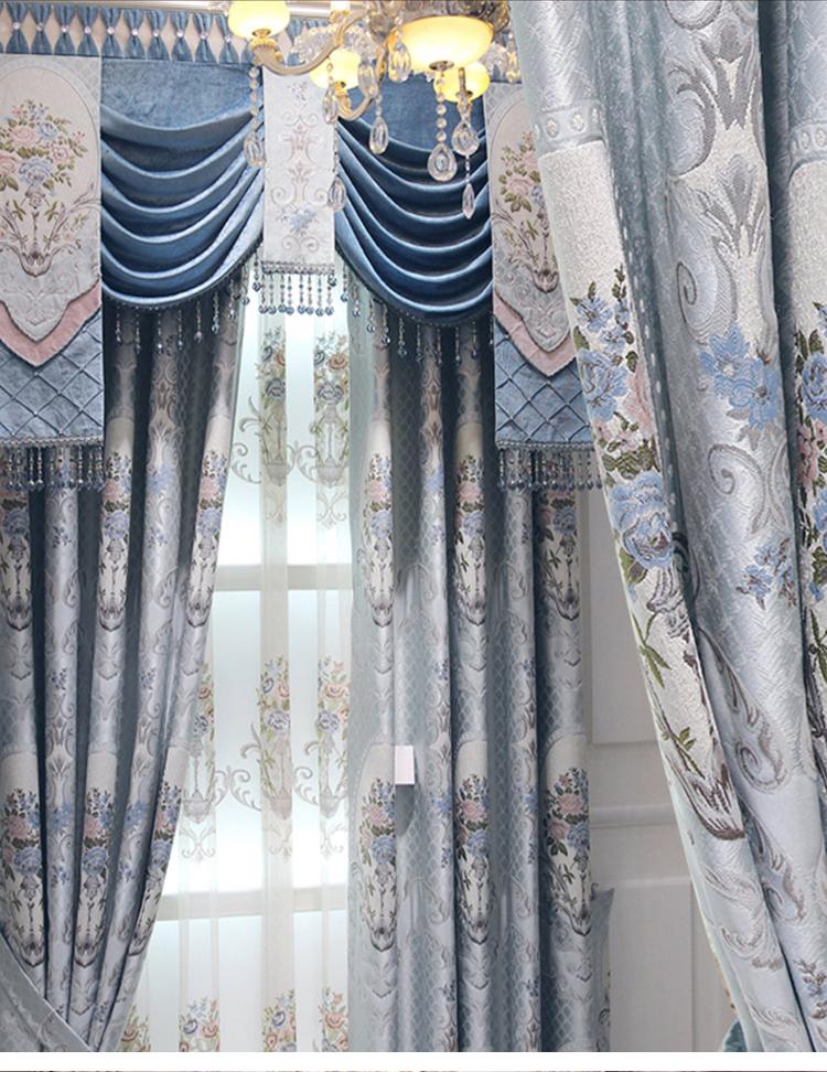 chinese jacquard fabric luxury european style window curtain latest rh alibaba com latest curtain styles india latest curtain style in pakistan