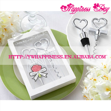 Wedding Favors Gifts Born of a couple Wine opener Cheers to a Great Combination Heart Shaped Corkscrew and Stopper Sets
