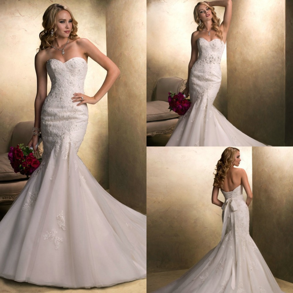 Wedding Dresses With Detachable Tail: Detachable Belt Wedding Dress With Open Back Mermaid