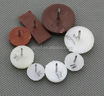 antislip plastic chair nail glides for carpet - Chair Glides