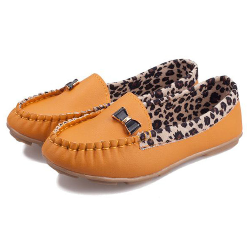 ad62a04e194 Get Quotations · 058 New Arrival 2014 Fashion Spring and Autumn Flats for Women  Flat heel Shoes Leopard Flats