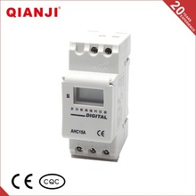 QIANJI Surtidores de China 16A/250VAC Din Rail LED Digital Programable Temporizador de Interruptor